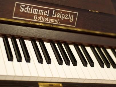 Schimmel Leipzig 130 von 1913 in Eiche glänzend