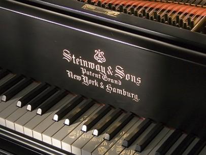 Steinway & Sons O von 1910 in Schwarz matt